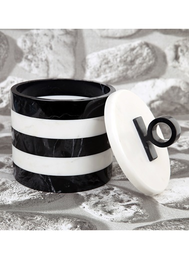 3Wdesign El Yapımı Mermer Dekoratif Kutu Siyah